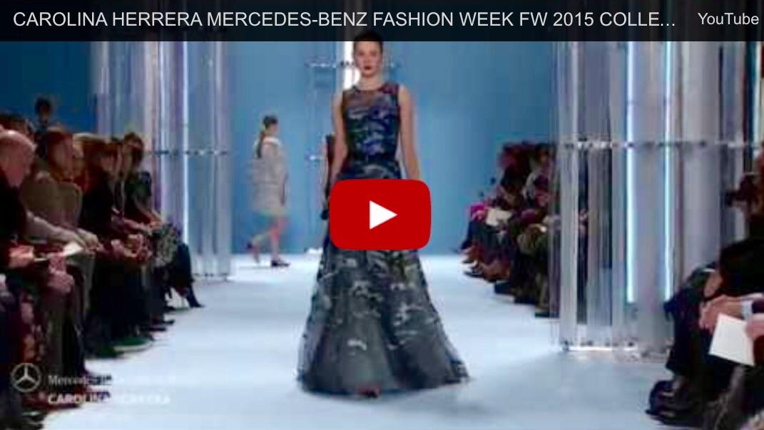 CAROLINA HERRERA MERCEDES-BENZ FASHION WEEK FW 2015 COLLECTIONS